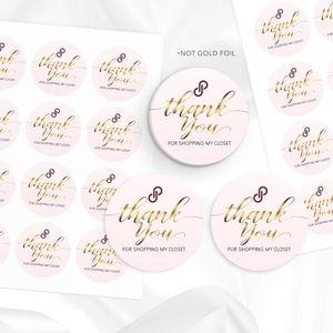 POSHMARK STICKERS | Pink & Gold | 100 Stickers